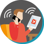Grâce à nos équipements Wifi, garantissez à vos utilisateurs l'accès informatique dans tout votre bâtiment (déploiement et supervision des niveaux d'émission, accès réseau sécurisé...)