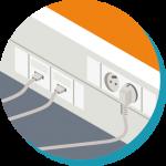 Infra-câblage cuivre : création locaux techniques, mise en oeuvre réseaux informatiques, test et mise en service