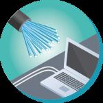 Mise en place d'un réseau de fibre optique dans vos bâtiments connectés : mise en place de coffrets ou tiroirs optiques et passage fibre, raccordement et soudure, test de réflectométrie...